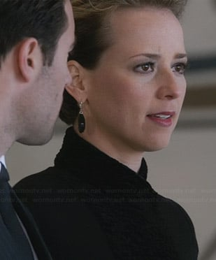 Margaux's fur lapel jacket on Revenge