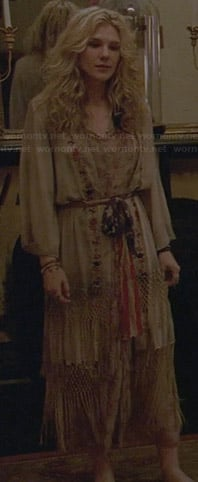 Misty's off-white floral maxi dress on American Horror Story