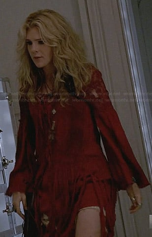 Misty's red fringed dress on American Horror Story