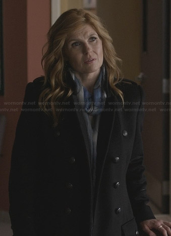 Rayna's black military coat on Nashville