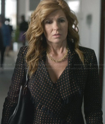 Rayna's printed jacket with tassels on Nashville