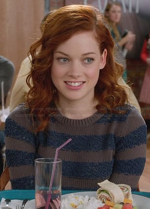 Tessa's blue and brown striped sweater on Suburgatory