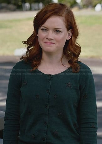 Tessa's green star cardigan on Suburgatory