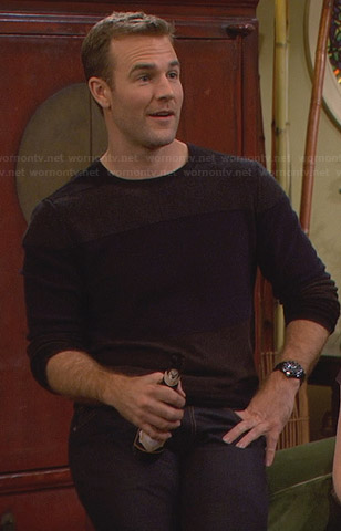 Will's colorblock sweater on Friends with Better Lives