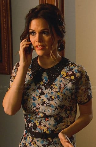 Zoe's floral maxi dress with collar on Hart of Dixie