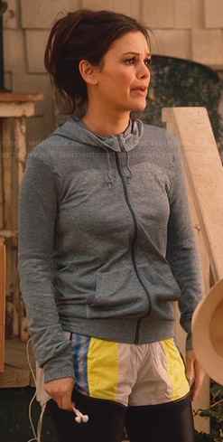 Zoe's grey hoodie and running shorts on Hart of Dixie