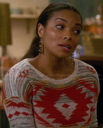 April's geometric pattern sweater on Mistresses