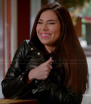 Carmen's leather jacket on Devious Maids