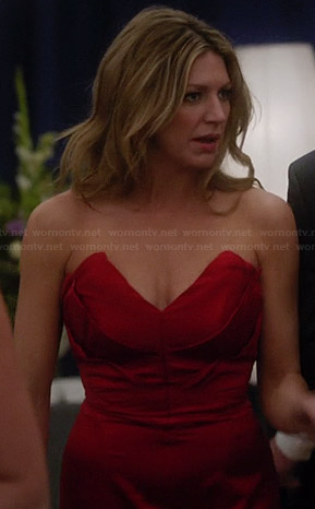 Josslyn's red strapless gown on Mistresses