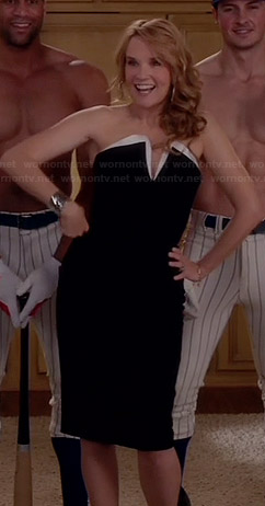 Kathryn's black and white strapless dress on Switched at Birth