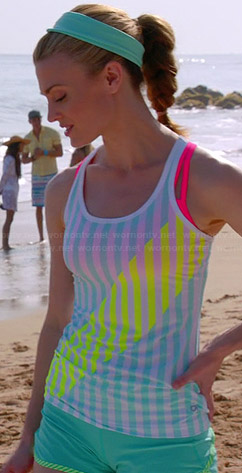 Paige's striped sports tank top on Royal Pains