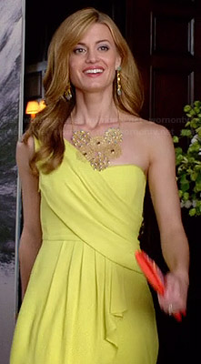 Paige's yellow one shouldered gown on Royal Pains