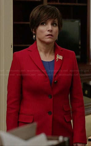 Selina's red coat on Veep