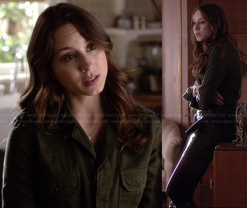 Spencer's green romper on Pretty Little Liars