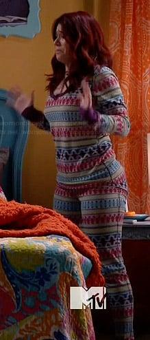Tamara's multi colored pajamas on Awkward
