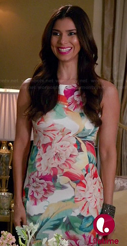 Carmen's white floral dress on Devious Maids