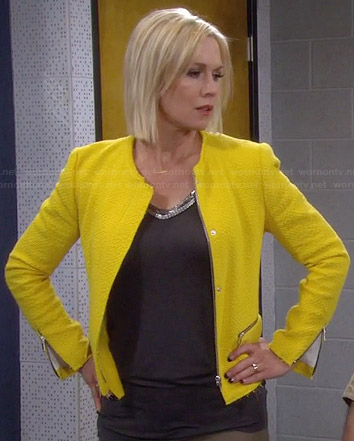 Charlie's yellow tweed jacket on Mystery Girls