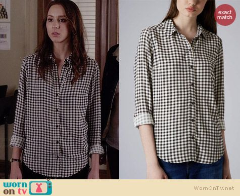 Gingham Shirt by Topshop