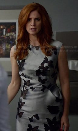 Donna's grey butterfly dress on Suits