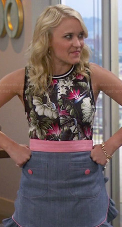 Gabi's tropical floral bodycon dress on Young and Hungry