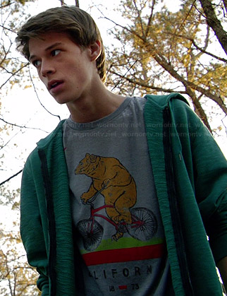Joe's bear on a bike tee on Under the Dome