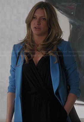 Josslyn's blue colorblock blazer on Mistresses