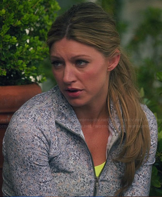 Josslyn's grey floral running jacket on Mistresses