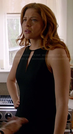 Julia's black keyhole dress at the funeral on Under the Dome