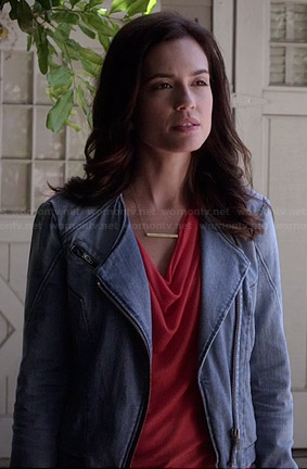 Melissa's denim jacket on Pretty Little Liars