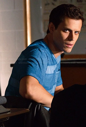 Nick's blue striped tee on The Leftovers