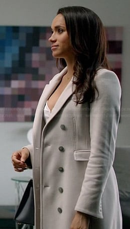 Rachel's white coat on Suits
