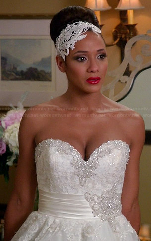 Rosie's wedding dress on Devious Maids