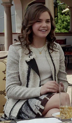 Sophia's white tweed jacket on The Fosters