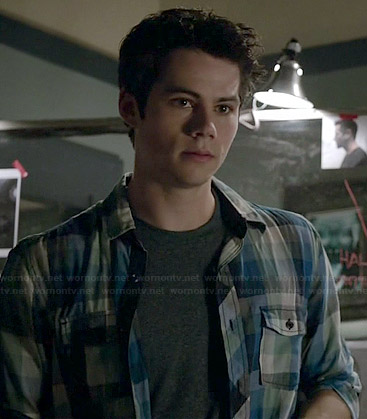 Stiles's blue checked shirt on Teen Wolf