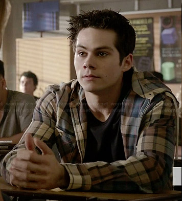 Stiles's plaid hooded shirt on Teen Wolf