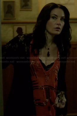 Wendy's orange beaded tank top on Witches of East End