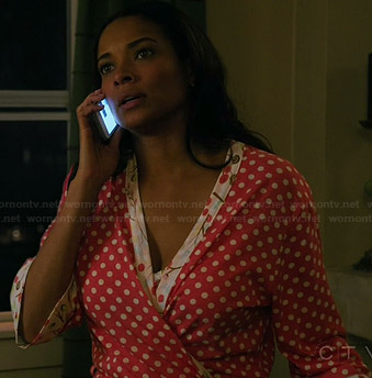 April's polka dot robe on Mistresses