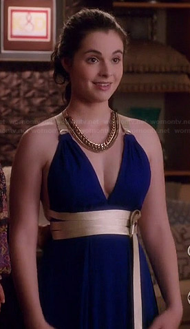 Bay's blue (original) prom dress on Switched at Birth