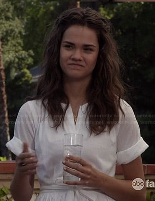 Callie's white shirtdress on The Fosters