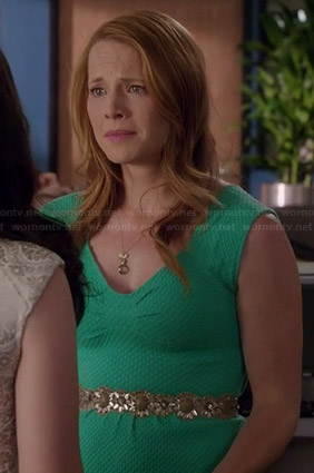 Daphne's green graduation dress on Switched at Birth