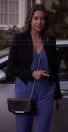 Emily's blue jumpsuit on Pretty Little Liars