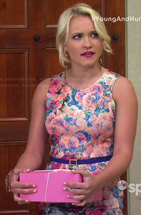 Gabi's floral fitted dress on Young and Hungry