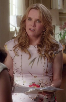 Kathryn's floral cap sleeve dress on Switched at Birth