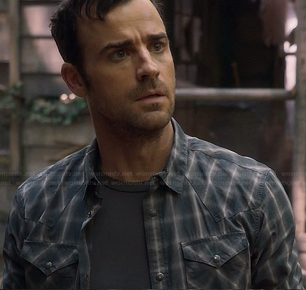 Kevin's grey checked shirt on The Leftovers