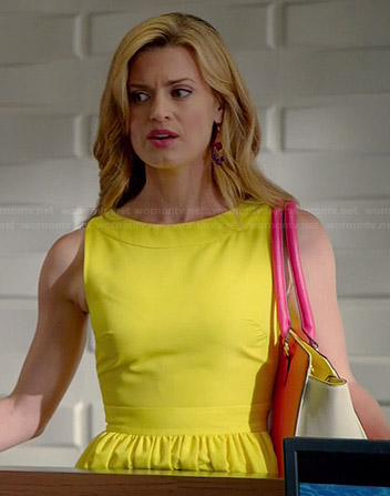 Paige's yellow fit and flare dress on Royal Pains