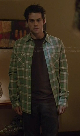 Stiles's green plaid shirt on Teen Wolf