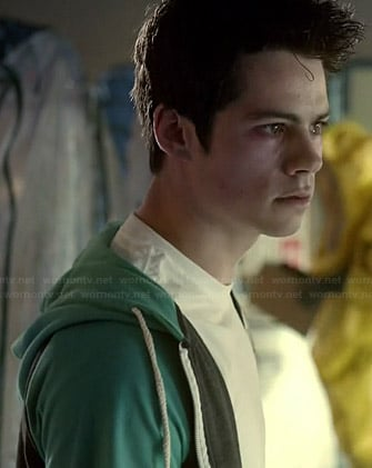 Stiles's grey and green hoodie on Teen Wolf