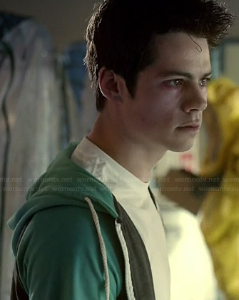 Lydia's white floral dress and green cardigan on Teen Wolf