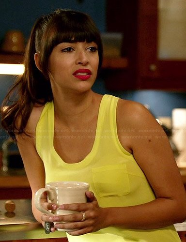 Cece's yellow tank top on New Girl
