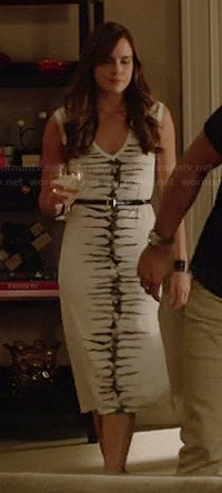 Charlotte's white tie dyed midi dress on Revenge